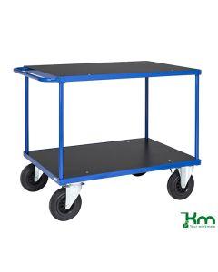 Bordvogn L1000 mm. Blå. Med bremse