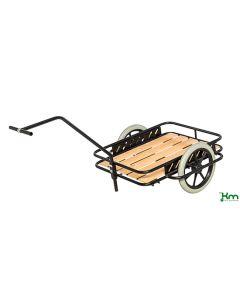 Trækvogn med punkteringsfrie hjul. Sort