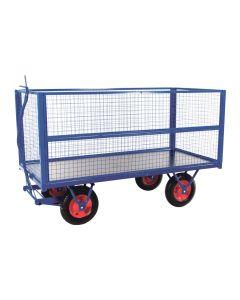 Trækvogn med netsider. RAL5010 Gentian blue