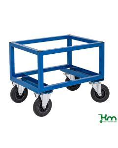 Vogn til 1/2-palle (ekskl.). Fast højde. Blå