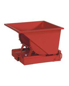 Tipcontainer åben. 150 l. RAL3020 Traffic red