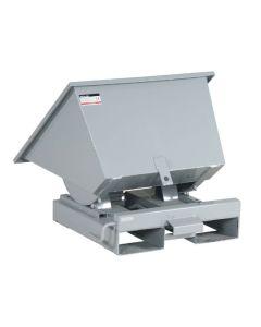 Tipcontainer åben. 150 l. RAL7042 Traffic grey A