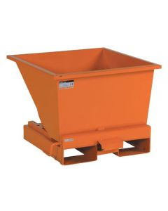 Tipcontainer åben. 150 l. RAL2008 Bright red orange