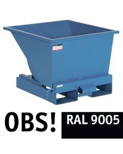 Tipcontainer åben, 150 l. RAL9005 Jet black