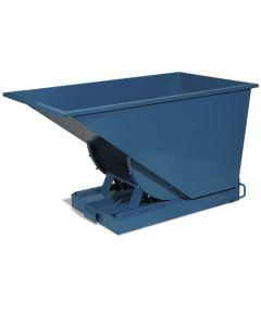 Tipcontainer åben. 300 l. RAL5019 Capri blue