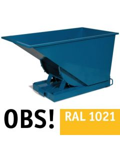 Tipcontainer åben. 300 l. RAL1021 Rap yellow