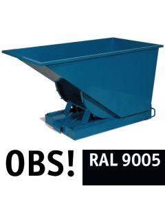 Tipcontainer åben. 300 l. RAL9005 Jet black