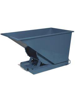 Tipcontainer åben. 600 l. RAL5019 Capri blue
