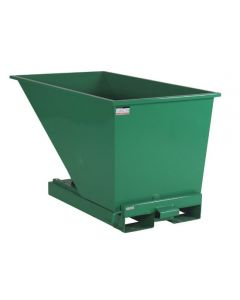 Tipcontainer åben. 600 l. RAL6032 Signal green