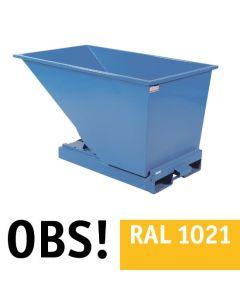 Tipcontainer åben. 600 l. RAL1021 Rap yellow