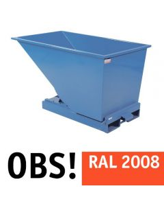Tipcontainer åben. 600 l. RAL2008 Bright red orange