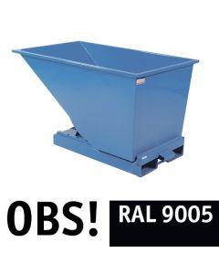 Tipcontainer åben. 600 l. RAL9005 Jet black