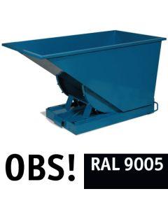 Tipcontainer åben. 900 l. RAL9005 Jet black