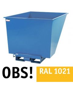 Tipcontainer åben. 1100 l. RAL1021 Rape yellow