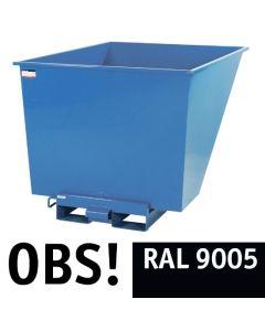 Tipcontainer åben, 1100 l. RAL9005 Jet black