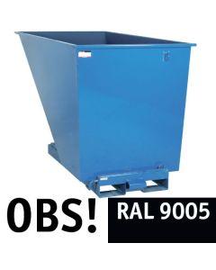 Tipcontainer åben. 1600 l. RAL9005 Jet black