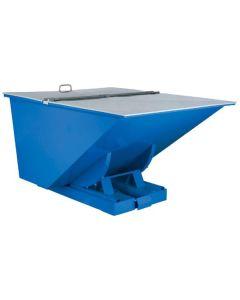 Låg, fladt til 150 l tipcontainer (ekskl.)