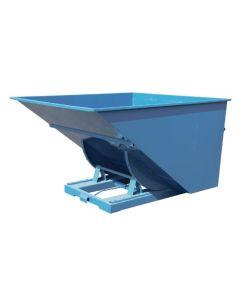 Tipcontainer åben, 2500 l. RAL5019 Capri blue