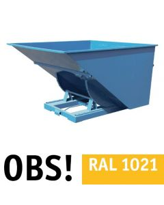 Tipcontainer åben. 2500 l. RAL1021 Rap yellow