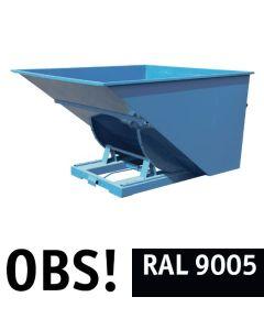 Tipcontainer åben. 2500 l. RAL9005 Jet black