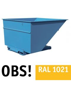Tipcontainer åben. 3000 l. RAL1021 Rape yellow