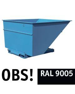 Tipcontainer åben. 3000 l. RAL9005 Jet black