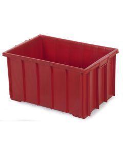 1/4 pallekasse / plastkasse H320 mm. Rød