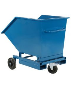 Tipcontainer-vogn. 300 l. RAL5019 Capri blue