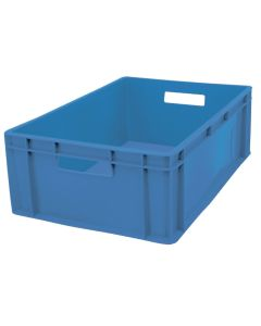 1/4 pallekasse / plastkasse EURO H200 mm. Blå