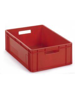 1/4 pallekasse / plastkasse EURO H200 mm. Rød