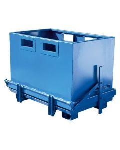Container med bundtømning 700 l. RAL5019 Capri blue