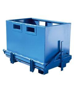 Container med bundtømning 1800 l. RAL5019 Capri blue