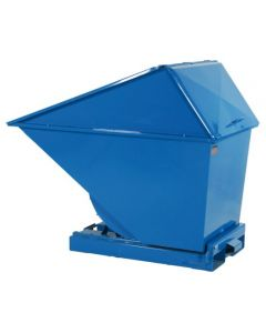 Tipcontainer med højt låg. 200 l. RAL5019 Capri blue