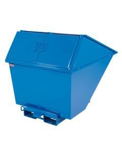 Tipcontainer med højt låg. 1100 l. RAL5019 Capri blue