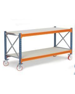 Arbejdsbord med hjul D800 mm