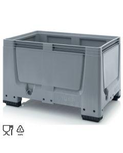 Bigbox B1200 x D800 mm. Grå. Med 4 ben