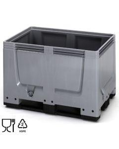 Bigbox B1200 x D800 mm. Grå. Med 3 meder