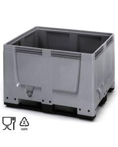 Bigbox B1200 x D1000 mm. Grå. Med 3 meder