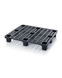 Plastpalle L1200 x B1000 x H150 mm. Sort (Auer)