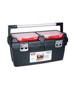 Værktøjskasse med 4 aftagelige bakker - RESTSALG