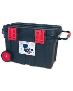 Værktøjskasse på hjul. Stor. Med 4 bakker - RESTSALG