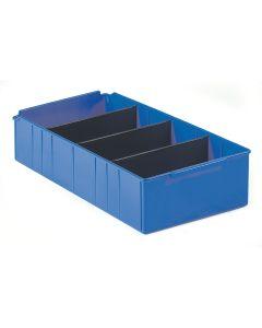 Lagerkassette. Blå. H135 x B300 x D615 mm
