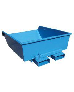 Tipcontainer lavtbygget. 900 l. RAL5019 Capri blue