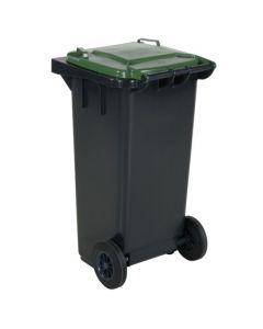 Affaldsbeholder 120 l. Grå med grønt låg
