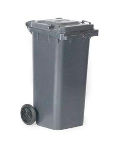 Affaldsbeholder 120 l. Grå med gråt låg