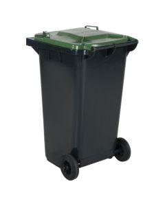 Affaldsbeholder 240 l. Grå med grønt låg