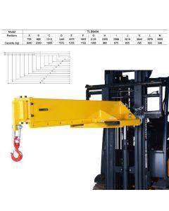 Kran til gaffeltruck L2108-3500 mm