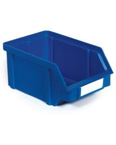 Plastkasse 0,85 l. Blå