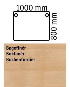 Bordplade. Bøgefiner. L1000 x B800 mm