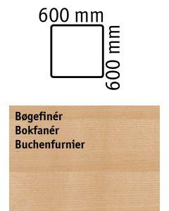Bordplade. L600 x B600 mm. Bøgefinér